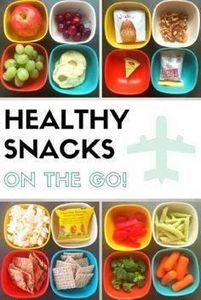 Healthy Snacks on the Go for road  - 85 Lunch Box And Snack Ideas - RecipePin.com