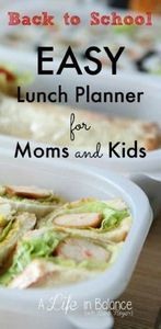Back to School: Easy Lunch Planner - 85 Lunch Box And Snack Ideas - RecipePin.com