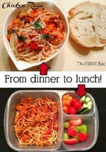 Easy lunches with leftovers! Packe - 85 Lunch Box And Snack Ideas - RecipePin.com
