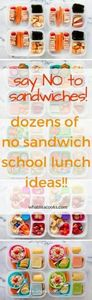 Tired of packing sandwiches for lu - 85 Lunch Box And Snack Ideas - RecipePin.com