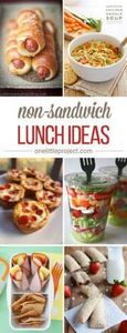 Here's an AWESOME list of non-sand - 85 Lunch Box And Snack Ideas - RecipePin.com