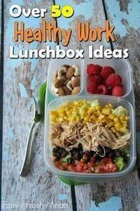 50+ fresh and healthy ideas for wo - 85 Lunch Box And Snack Ideas - RecipePin.com