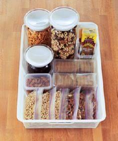 Love this idea for creating a grab - 85 Lunch Box And Snack Ideas - RecipePin.com
