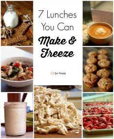 7 Lunches You Can Make & Freez - 85 Lunch Box And Snack Ideas - RecipePin.com