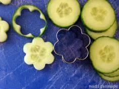 Use a cookie cutter to make cucumb - 85 Lunch Box And Snack Ideas - RecipePin.com