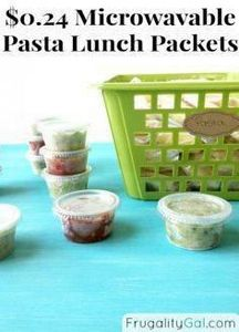 Make your own pasta lunch packets  - 85 Lunch Box And Snack Ideas - RecipePin.com