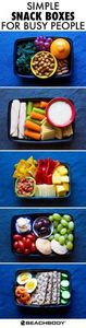 These grab-and-go snack boxes are  - 85 Lunch Box And Snack Ideas - RecipePin.com