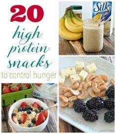20 high protein snacks to control  - 85 Lunch Box And Snack Ideas - RecipePin.com