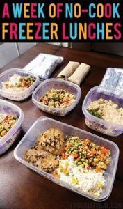 Freezer Meals: Put together a week - 85 Lunch Box And Snack Ideas - RecipePin.com