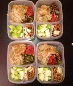 Meal prep for the week- baked chic - 85 Lunch Box And Snack Ideas - RecipePin.com