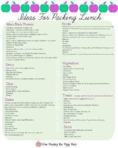 Ideas for Packing Lunch -- FREE PR - 85 Lunch Box And Snack Ideas - RecipePin.com