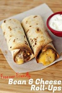Freezer Friendly Bean and Cheese R - 275 Delicious Mexican Recipes - RecipePin.com