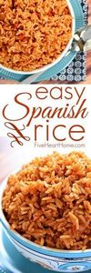 Easy Spanish Rice ~ cook a pot of  - 275 Delicious Mexican Recipes - RecipePin.com