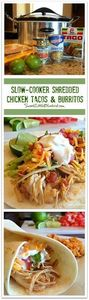 SLOW-COOKER SHREDDED CHICKEN TACOS - 275 Delicious Mexican Recipes - RecipePin.com