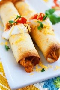 Baked Chicken Taquitos- The Comfor - 275 Delicious Mexican Recipes - RecipePin.com