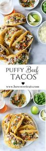 puffy tacos! by @howsweeteats I ho - 275 Delicious Mexican Recipes - RecipePin.com