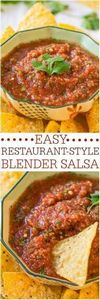 Easy Restaurant-Style Blender Sals - 275 Delicious Mexican Recipes - RecipePin.com