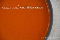 Homemade Red Enchilada Sauce from  - 275 Delicious Mexican Recipes - RecipePin.com