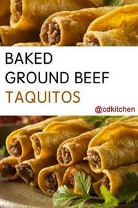 These tasty rolled tacos are fille - 275 Delicious Mexican Recipes - RecipePin.com