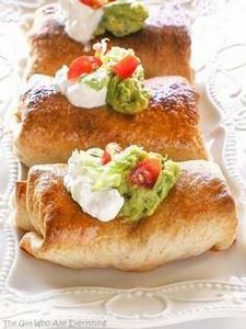 Baked Chicken Chimichangas - 275 Delicious Mexican Recipes - RecipePin.com