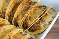 Baked Tacos! Use regular taco meat - 275 Delicious Mexican Recipes - RecipePin.com