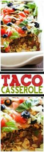 Taco Casserole... this is an easy  - 275 Delicious Mexican Recipes - RecipePin.com