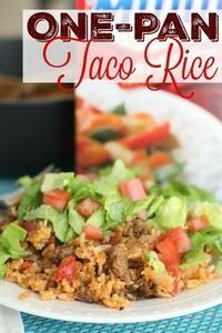 One Pan Taco Rice Dinner recipe fr - 275 Delicious Mexican Recipes - RecipePin.com