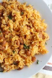 Mexican Rice and Beans |www.simple - 275 Delicious Mexican Recipes - RecipePin.com