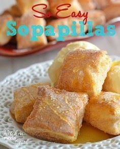 These easy sopapillas need only th - 275 Delicious Mexican Recipes - RecipePin.com