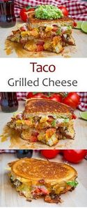 Taco Grilled Cheese Sandwich - 275 Delicious Mexican Recipes - RecipePin.com