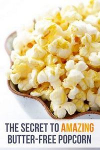 The BEST Butter-Free Popcorn (Nooc - 380 Non-Dairy Recipes - RecipePin.com