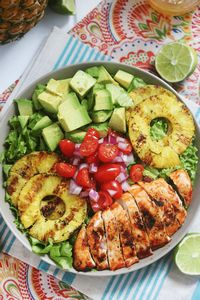 Siracha Lime Chicken Chopped Salad - 380 Non-Dairy Recipes - RecipePin.com