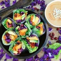 Rainbow Summer Rolls - These look - 380 Non-Dairy Recipes - RecipePin.com