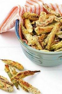 Oven-Fried Okra - Yes it works! #C - 100 Okra Recipes - RecipePin.com