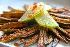 chili lime okra chips healthy choi - 100 Okra Recipes - RecipePin.com