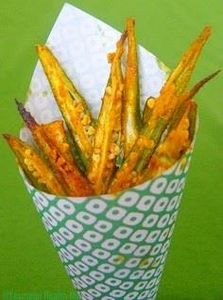 Baked okra fries - These look yum. - 100 Okra Recipes - RecipePin.com