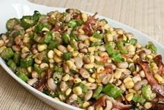 Black-eyed peas are not only for N - 100 Okra Recipes - RecipePin.com