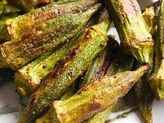 Roasted Okra: simple and delicious - 100 Okra Recipes - RecipePin.com