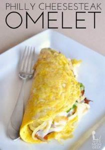 Philly Cheesesteak Omelet - This l - 85 Popular Omelet Recipes - RecipePin.com
