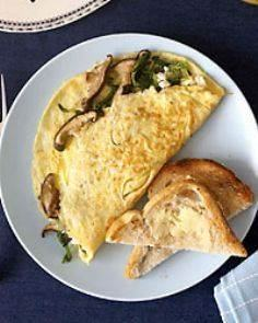 Wild Mushroom and Goat Cheese Omel - 85 Popular Omelet Recipes - RecipePin.com