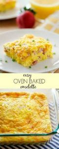 Baked Ham and Cheese Omelette - 85 Popular Omelet Recipes - RecipePin.com