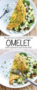 Mushroom and Goat's Cheese Omelet  - 85 Popular Omelet Recipes - RecipePin.com