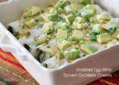 Breakfast Egg White Spinach Enchil - 85 Popular Omelet Recipes - RecipePin.com