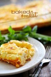 Baked Cheesy Omelet ...The easiest - 85 Popular Omelet Recipes - RecipePin.com