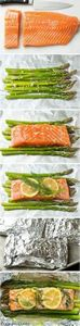 Baked Salmon and Asparagus in Foil - 260 Popular Paleo Recipes - RecipePin.com