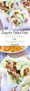 Chipotle Pulled Pork Lettuce Wraps - 260 Popular Paleo Recipes - RecipePin.com