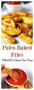 Paleo Baked Fries- 3 ingredients a - 260 Popular Paleo Recipes - RecipePin.com