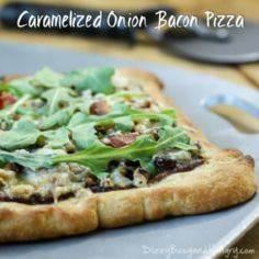 Caramelized Onion Bacon Pizza with - 250 Great Pizza Recipes - RecipePin.com
