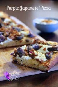 Purple Japanese Pizza is the perfe - 250 Great Pizza Recipes - RecipePin.com