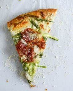 Asparagus Ribbon and Whipped Ricot - 250 Great Pizza Recipes - RecipePin.com